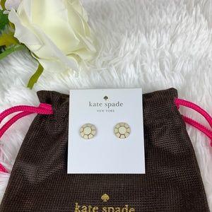 Kate Spade Jewel Bar Stud Earrings Cream NWT